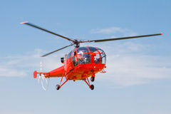 Helicopter in sky Royalty Free Stock Photos