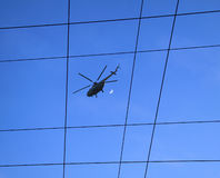 Helicopter in the sky Stock Photography