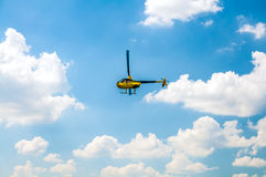 Helicopter in the sky Stock Photo