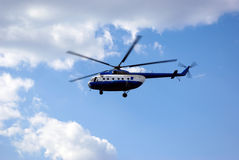 Helicopter in the sky Royalty Free Stock Images