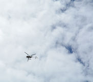 Helicopter on the sky Royalty Free Stock Photography