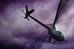 Helicopter in the sky Royalty Free Stock Photography