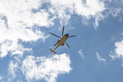 Helicopter in the sky Royalty Free Stock Photos