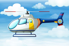 A helicopter in the sky Stock Photos