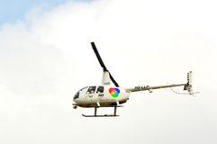 Helicopter sky news Stock Photo