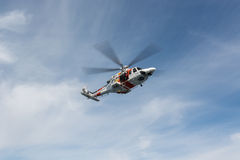 Helicopter of the Spanish Maritime Rescue Team Stock Photo