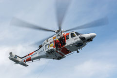 Helicopter of the Spanish Maritime Rescue Team Royalty Free Stock Photos