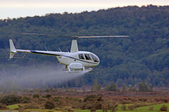 Fertiliser spraying Royalty Free Stock Image