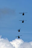 Helicopter squadron Stock Photography