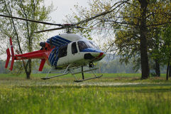 Helicopter start Royalty Free Stock Photography