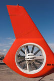 Helicopter tail rotor. Enclosed helicopter tail rotor Royalty Free Stock Photography