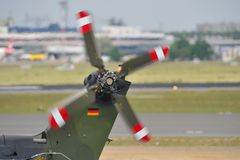 Helicopter tail rotor  Royalty Free Stock Images