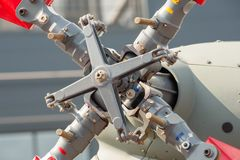 Helicopter tail rotor closeup stock photography