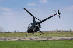 Helicopter takes off Royalty Free Stock Photography