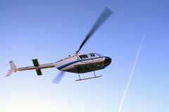 Helicopter taking off Royalty Free Stock Image