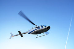 Helicopter taking off Royalty Free Stock Photo
