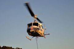 Helicopter taking off Royalty Free Stock Photography