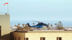 Helicopter Taking Off from Helipad Stock Photos