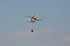 Bush Fire Aircraft Helicopter Emergency Services Forest Burning Royalty Free Stock Photo