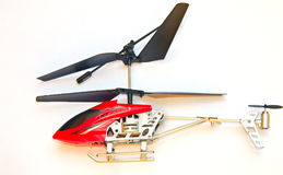 Helicopter toy isolated on white Stock Photography