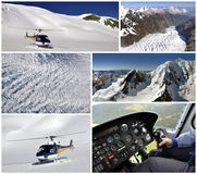 Helicopter trip over Fox Glacier, Royalty Free Stock Photo