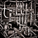 Helicopter Turbine Engine Fuel Management System royalty free stock images