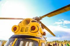 Helicopter& x27 ; turbines de s Image stock