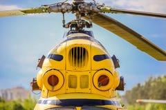Helicopter& x27 ; turbines de s images libres de droits