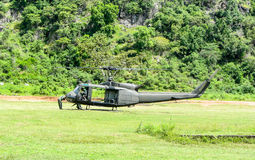 Helicopter UH-1 Huey start engine Stock Photography