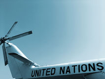 Helicopter of the United Nations Royalty Free Stock Photos