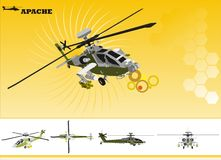 Helicopter vector Royalty Free Stock Photos