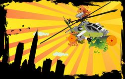 Helicopter vector composition Stock Image