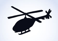 Helicopter. Vector drawing Stock Images