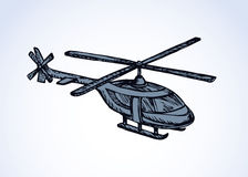 Helicopter. Vector drawing Royalty Free Stock Photography