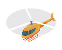 Helicopter Vector Icon in Isometric Projection Stock Photos