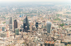 Helicopter view of London - UK Stock Photos