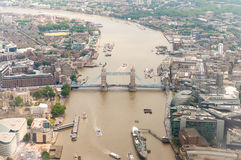 Helicopter view of London - UK Royalty Free Stock Images
