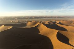 Helicopter view of sossusvlei area. In Namibia Royalty Free Stock Photography