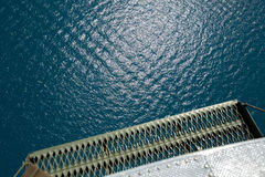 helicopter view to sea Royalty Free Stock Images