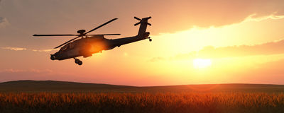 helicopter war Stock Image
