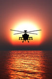 Helicopter war. 3D illustration of a helicopter war Royalty Free Stock Photography