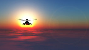 Helicopter war. 3D illustration of a helicopter war Stock Photos