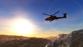 Helicopter war Royalty Free Stock Image