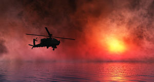 Helicopter war Royalty Free Stock Photos