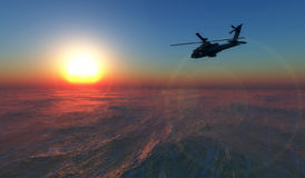 Helicopter war Royalty Free Stock Photography