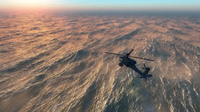 Helicopter war Stock Photography