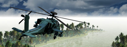 Helicopter war. 3D illustration of a helicopter war Stock Photography