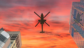Helicopter war Royalty Free Stock Images
