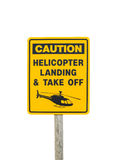 Helicopter Warning Royalty Free Stock Photo