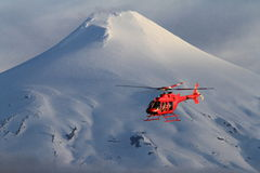 Helicoptero en-la nieve royaltyfri fotografi